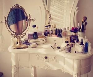 mirror, make up, and makeup image