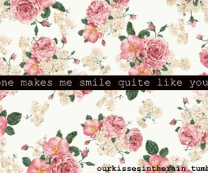 floral, cute, and smile image
