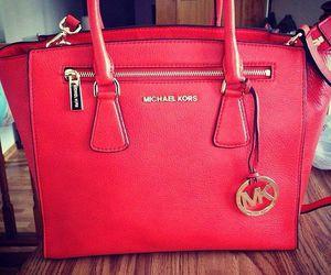 bag, Michael Kors, and red image