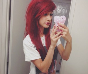 red hair and scene girl image