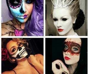 Halloween, make-up, and makeup image