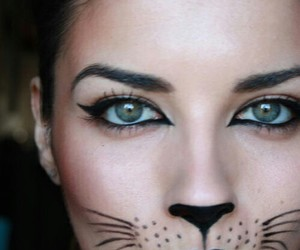 Halloween, cat, and makeup image