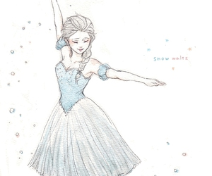 art, elsa, and ballet image