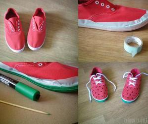 diy, shoes, and watermelon image