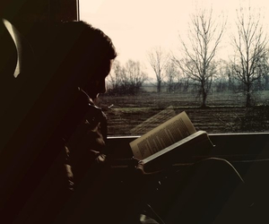 book, train, and reading image