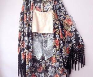 outfit, style, and flowers image