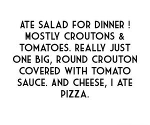 diet, pizza, and salad image