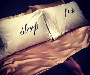 bed, sleep, and bedroom image