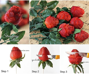 diy, strawberry, and rose image