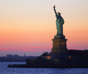 colourful, new york, and statue of liberty image