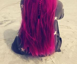 hair, beach, and braid image