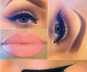 makeup, eyes, and lips image
