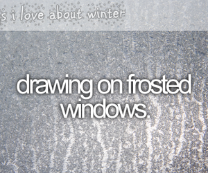 winter and drawing image