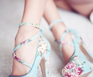 awesome, heels, and flower image
