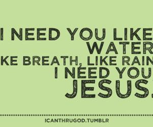 i need you and jesus image