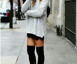 edgy, fall fashion, and lace image