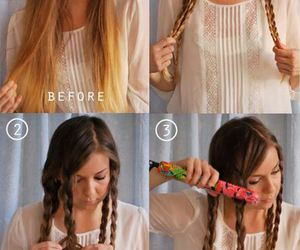 braids, hair, and capelli image
