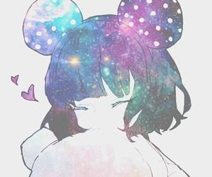 anime, kawaii, and galaxy image