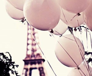 balloons, eiffel tower, and paris image