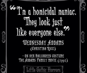 christina ricci, quote, and the addams family image