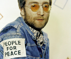 peace, the beatles, and john image