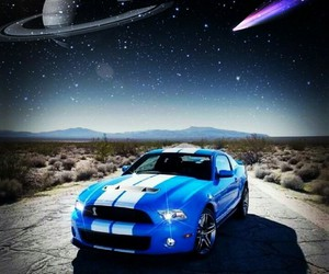 mustang and space image