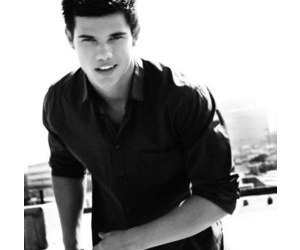 Taylor Lautner, sexy, and black and white image