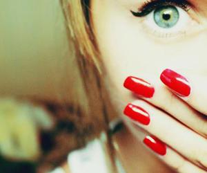 girl, red, and nails image
