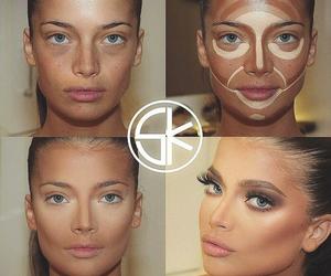 makeup, make up, and contouring image