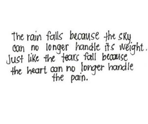 rain, heart, and quote image