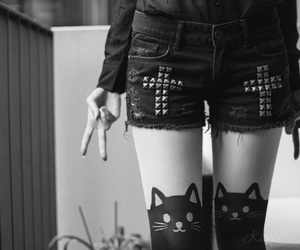 black, cat, and goth image