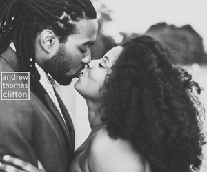 locks, natural hair, and wedding image