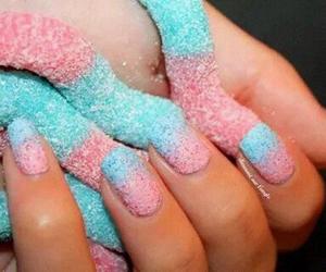 nails, food, and nail art image
