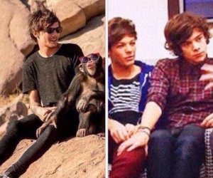 one direction, kiss, and louis tomlinson image