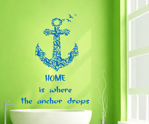 anchor, quote, and sea gulls image