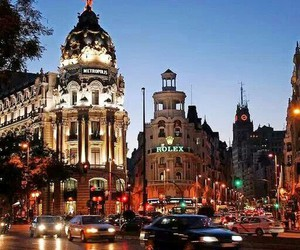 cities, spain, and lights image
