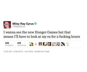 miley cyrus, hunger games, and miley image