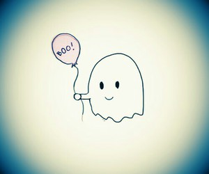 ghost, boo, and balloon image