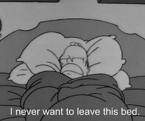 bed, homer, and never image