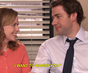 jim, jim halpert, and marriage image