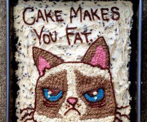 angry, birthday, and cake image