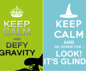 broadway, keep calm, and wicked image