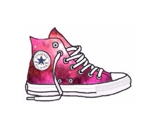converse, galaxy, and overlay image