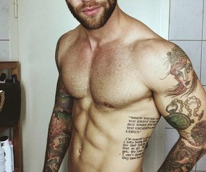 boy, tattoo, and abs image