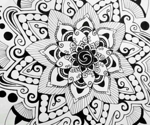 doodle, flower, and petals image