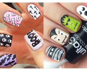 designs, Halloween, and nails image
