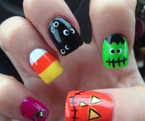 Halloween, halloween nails, and cool designs image