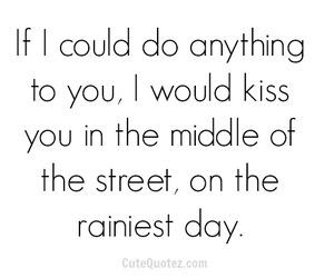 kiss, rain, and love image