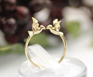 bird, gold, and ring image