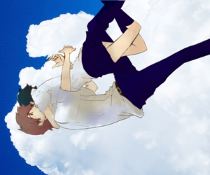 anime, clouds, and I Love You image